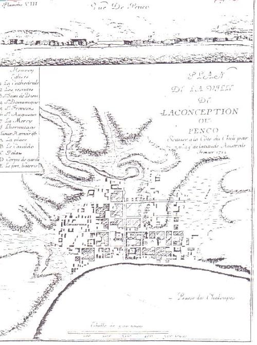 mapa Concepción 1712